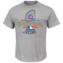 Men's Chicago Cubs Gray 2016 World Series Champions Locker Room T-Shirt ... - $12.46