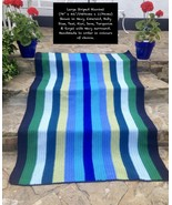 "Handmade To Order - Large Striped Blanket (78"" x 46""/199cms x 117cms app... - $937.20"