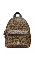 NWT Coach F24208 Mini Charlie Backpack With Wild Heart Print Natural Mul... - $129.85