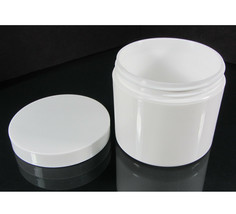 Cosmetic Jars 4 oz White Plastic Beauty Containers with White Lids (14) ... - $37.95