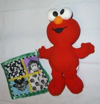 Fisher Price 2003 Baby Elmo Plush W/ Black Sheep Security Blanket Rattle - $12.22