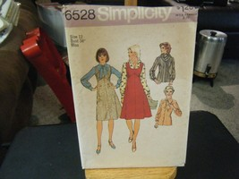 Simplicity 6528 Misses Jumper, Blouse & Scarf Pattern - Size 12 Bust 34 - $14.30