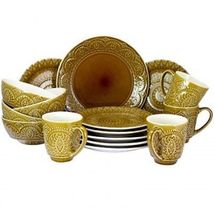 Elama's Cleo 16 Piece Stoneware Dinnerware Set - $89.05