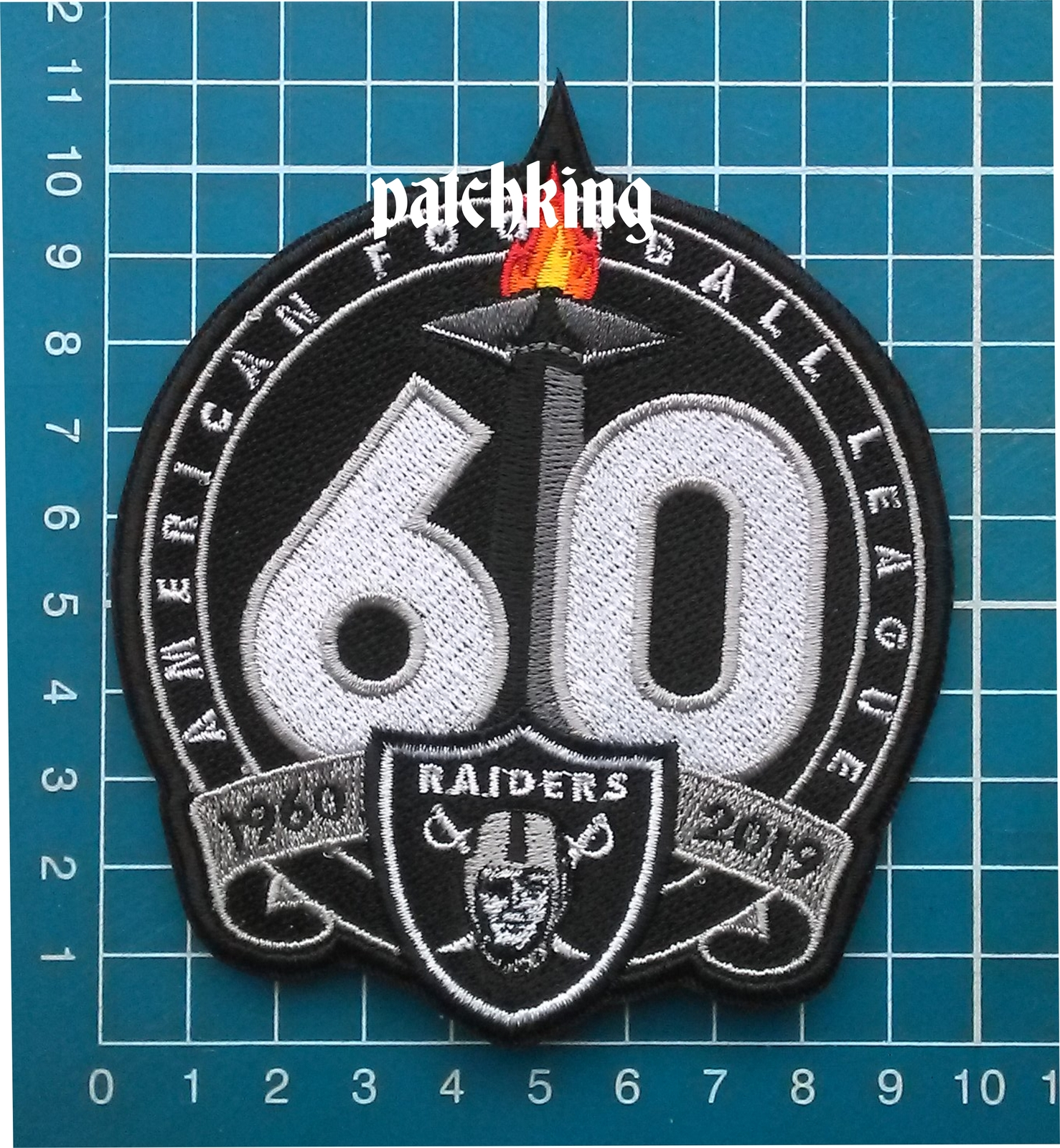"Primary image for 2019 Oakland Raiders 60th Anniversary 4"" Patch NFL Football Jersey embroidered"