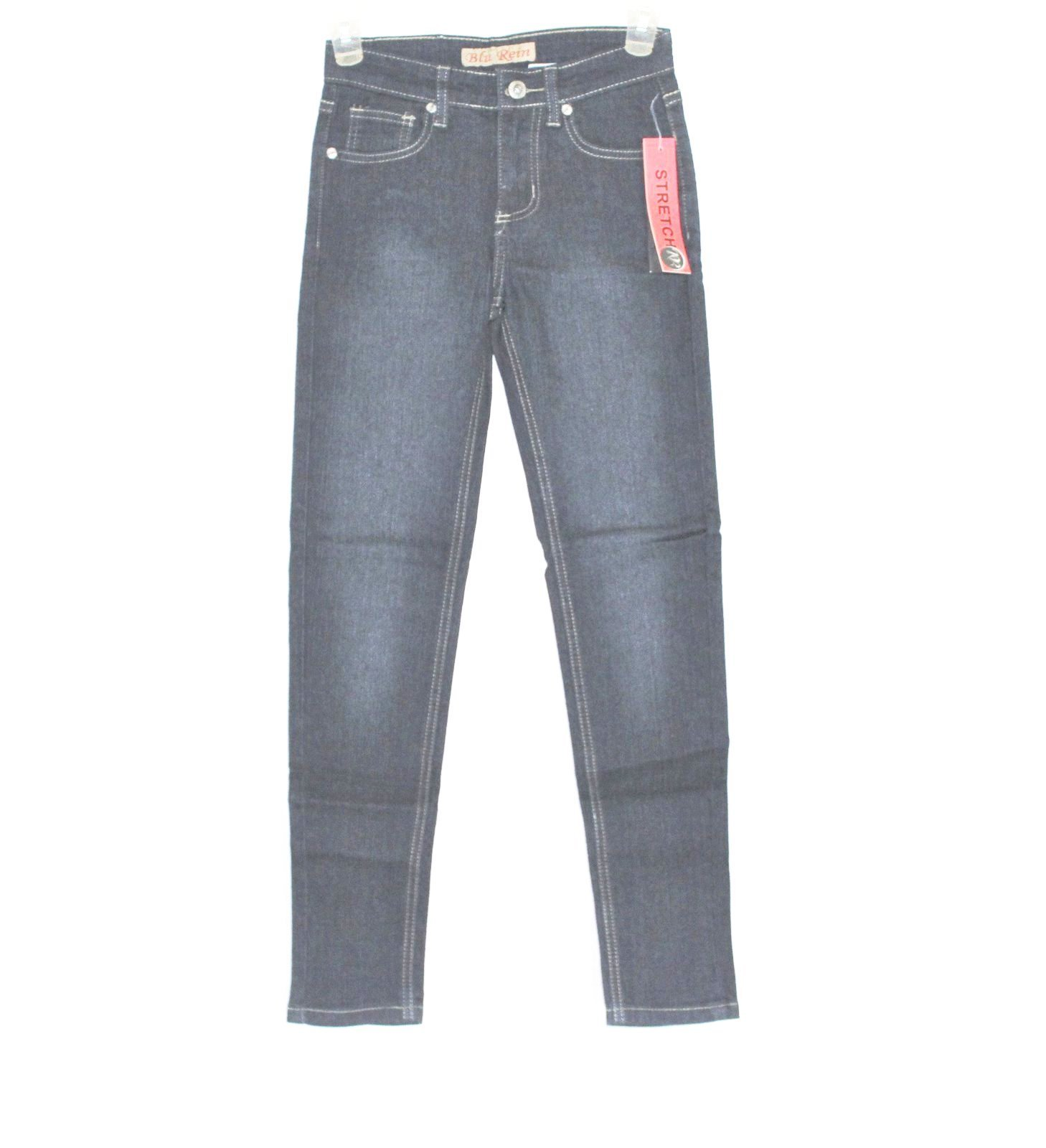 Girls blu rein slim skinny blue jeans