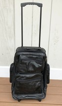 "20"" LEATHER ROLLING Duffle BACKPACK Wheeled CARRY ON Bag Luggage Suitcas... - $39.59"