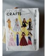 Mccall's Manualidades Muñeca Barbie Ropa Patrón M6232 con / Precortado V... - $30.39