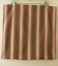 Pottery Barn Pillow Cover Brown Red Tan Stripe ... - $14.99