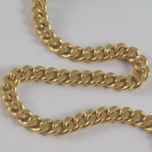 SOLID 18K YELLOW GOLD CHAIN MASSIVE GOURMETTE LINK, FLAT NECKLACE, MADE IN ITALY image 3