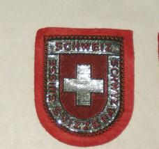 Schweiz Switzerland Suisse Embroidered Sewn World Travel Patch - $9.17
