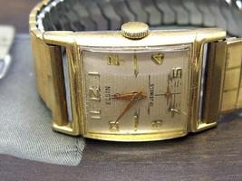 Elgin 19 Jewel hand wind Classic Vintage Watch 10k rgp Bezel RUNS new bands - $187.20