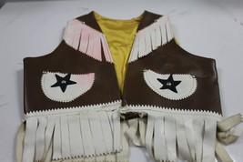 Vintage Leather Cowboy Vest Childrens   - $14.50