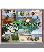 North Carolina Throw - 70 x 53 Blanket/Throw - $49.95