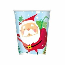 Colorful Santa 8 Ct  9 oz Paper Hot Cold Cups - $2.96