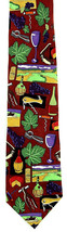 Wine Country Men's Neck Tie Ralph Marlin Vino Enthusiast Gift Silk Red N... - $27.67