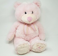 "18"" RUSS BERRIE PINK BABY MY FIRST 1ST TEDDY BEAR STUFFED ANIMAL PLUSH T... - $36.47"