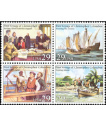 1992 29c Voyages of Columbus, Block of 4 Scott ... - $2.23