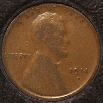 1914-D Lincoln Wheat Back Penny VG Details KEY DATE #0003 - $199.99