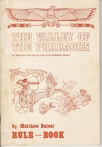 The Valley of the Pharaohs - Rule Book - Historical Role-Playing Game Pa... - $14.50