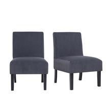 Set of 2 Velvet Leisure Dining Chairs, Dark Grey - $156.00