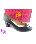 New TORY BURCH Size 10 JANEY Bright Navy Blue Heels Pumps Shoes Gold Log... - $209.00