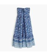 NWT J.Crew Strapless dress in floral block print Retail $98 XXS - $45.54