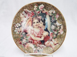 Dearest Kiss Plate Romantic Victorian Keepsake by John Grossman 1992 - $24.74