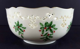 "LENOX China Holiday Dimension Pierced All Purpose Bowl 6"" Dinnerware image 2"