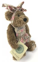 "Boyds Bears Collection Liza Berrijam 1999 10"" Plush Bear Bearwear Floral Apron - $18.76"