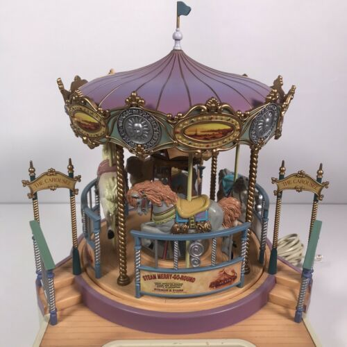 Great American Musical Merry Go Round Carousel Corded Novelty Phone Wind Up image 4