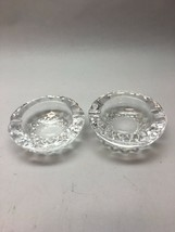 Pair Vintage Signed WATERFORD CRYSTAL COLLEEN PATTERN 3.5 Round Ashtray/... - $100.97