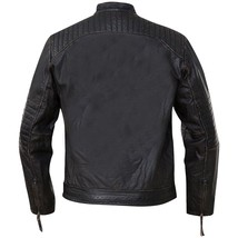 Cafe Racer Vintage Classic Distressed Black Motorcycle Real Leather Jacket image 3