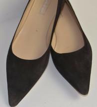 Michael Kors Women's Brown Suede Kitten Heel Pumps Size 8.5 Italy Career Shoes - $49.64