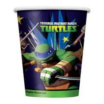 TMNT Teenage Mutant Ninja Turtle 9 oz Paper Cups 8 Ct Birthday Party Sup... - $4.90