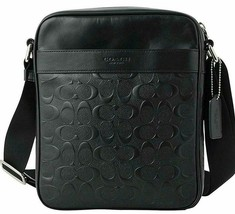 NWT COACH CHARLES FLIGHT IN SIGNATURE CROSSGRAIN LEATHER BAG - $154.30