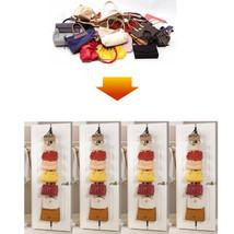 Handbag Hanger Adjustable 8 Hook Over Door Strap Rack Bag Hat Clothes Or... - $9.04
