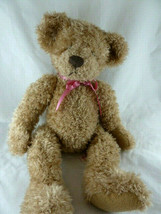 "Bradbury Russ Berrie Stuffed Plush Light Brown Teddy Bear 16"" Very Pretty - $19.00"