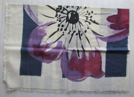 Marc Jacobs Scarf Flower Stripes Marine Blue NEW - $123.75