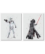 Kylo Ren Stormtrooper Wall Art Print Room Decor 2 Pack - $20.18