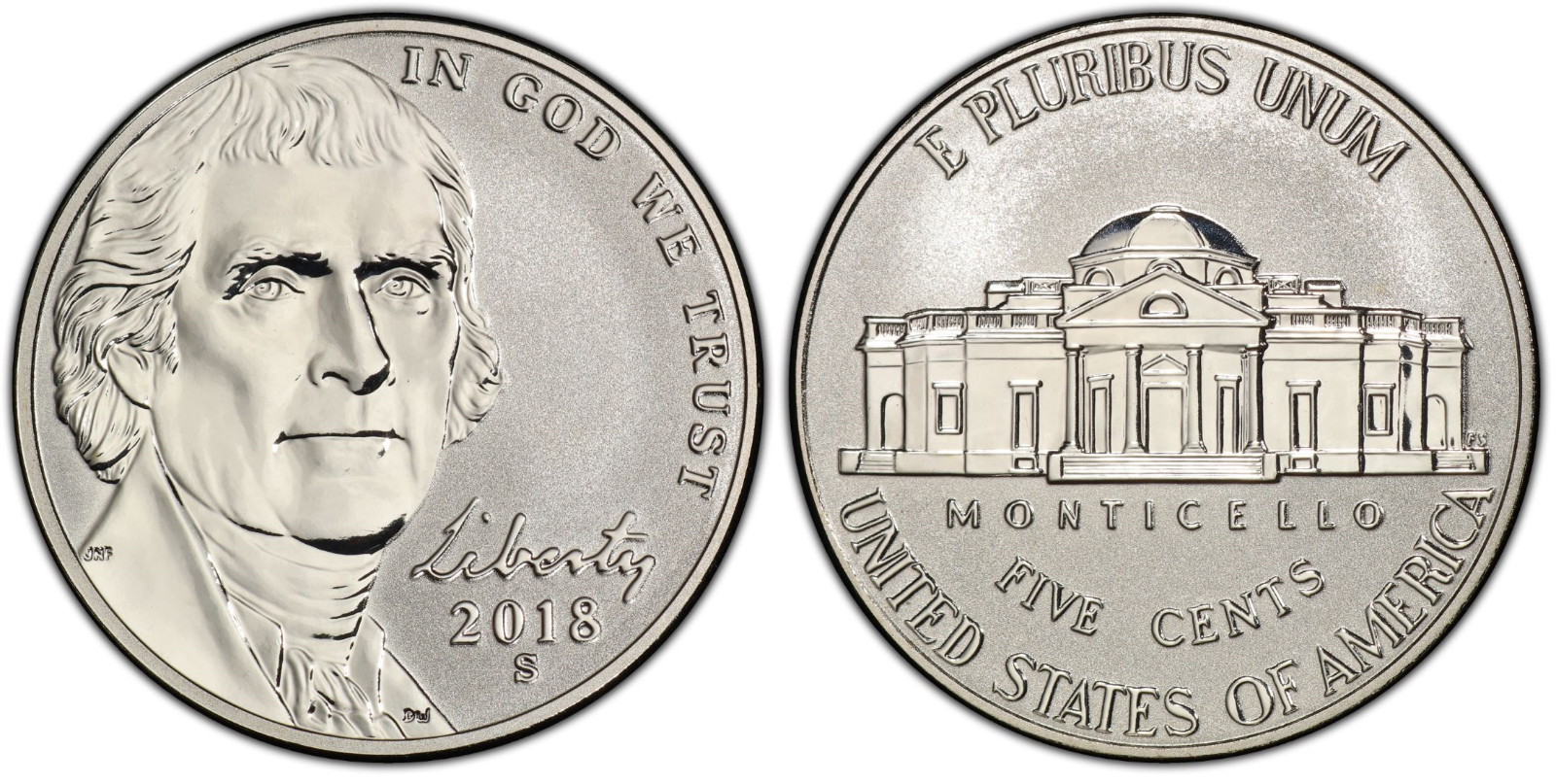2018 Reverse Proof Jefferson Nickel CP1180