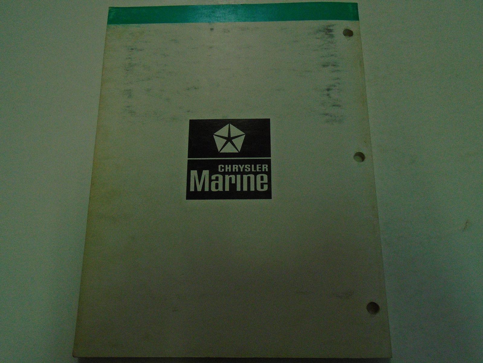 1980 Chrysler Outboard 4 HP Service Repair Shop Manual Factory OEM Book Used