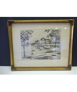 James Swann Etching Chicago Il Shedd Aquarium Framed - $79.99