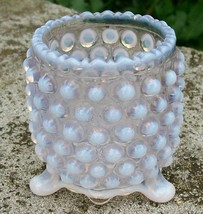 "Antique Opalescent ""Over-All Hobnail"" Toothpick Holder Late 1800s Patter... - $48.00"