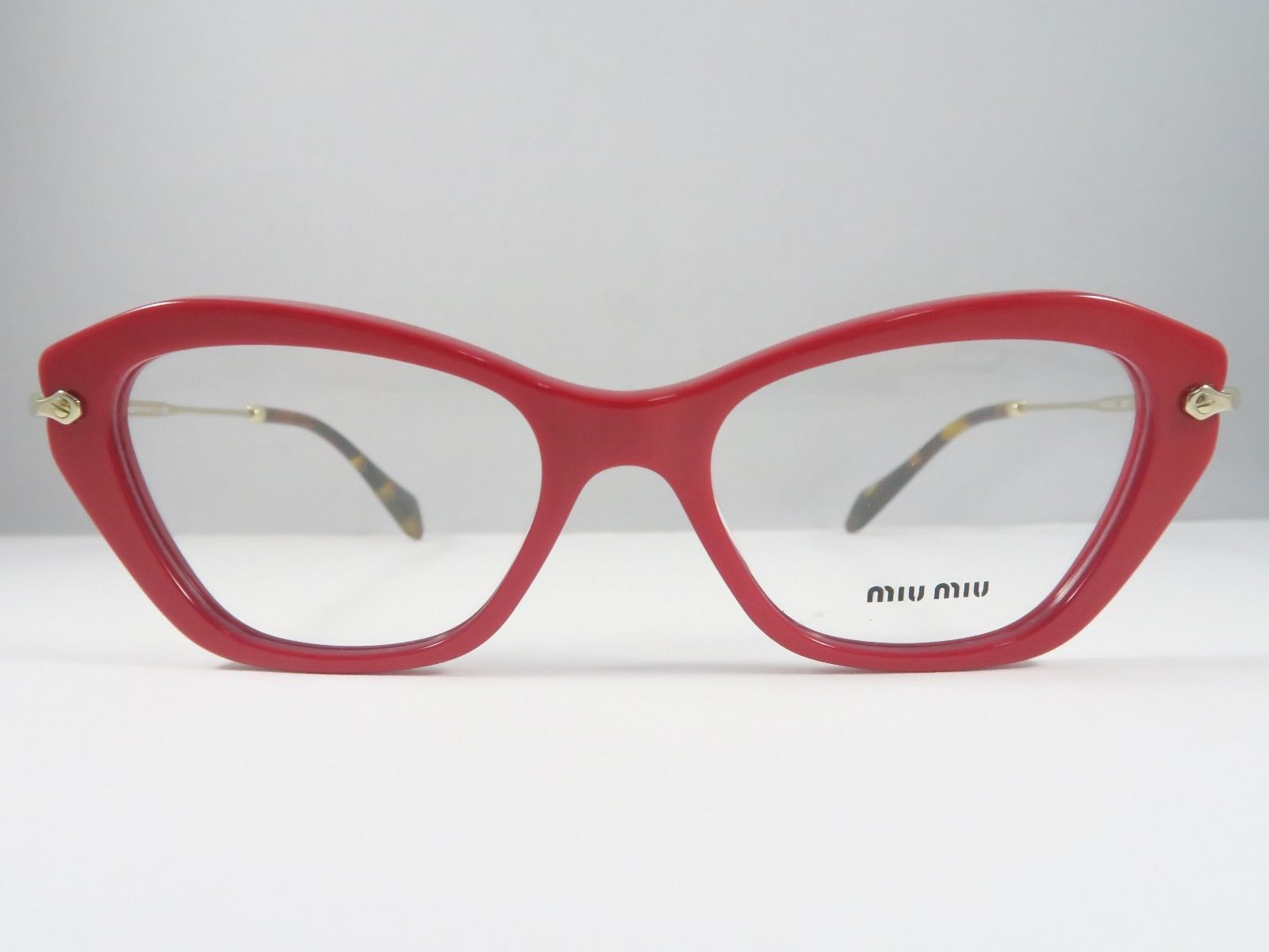 d2ed2af37f93 Miu Miu VMU 04L UA4-1O1 Red on Gold Havana and 27 similar items