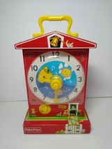 Fisher Price Music Box Teaching Clock 2009 Learning Toy - $19.79
