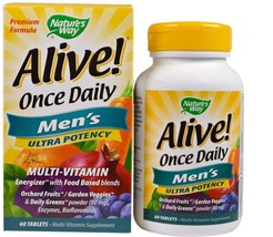 Once Daily Men's Health Multi-Vitamin Multi-Mineral 60 Tablets Natural Men - $27.58
