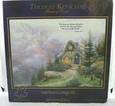 """New Thomas Kinkade Sweetheart Cottage III~500 Oversized Piece Puzzle 27"""" X 20"""" - $13.78"""