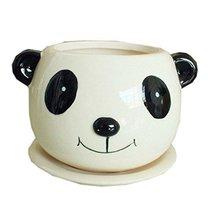 Lovely Panda Earthenware Planter Creative Cute Decor/Gift Flower Pot 4.3... - $24.39
