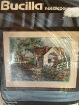 Bucilla Needlepoint Shepherd's Cottage Vintage CountryGarden Scen 16x12... - $49.49