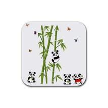 Cute Baby Panda (Square) Rubber Coaster - $2.99